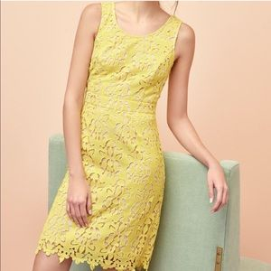 Banana Republic Sunshine Yellow Islet Sheath Dress